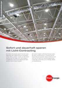 Flyer Rheinenergie Licht-Contracting