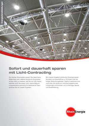 Flyer Rheinenergie Licht-Contracting