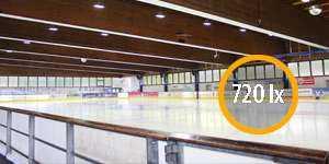 Lichtstärke Eissporthalle