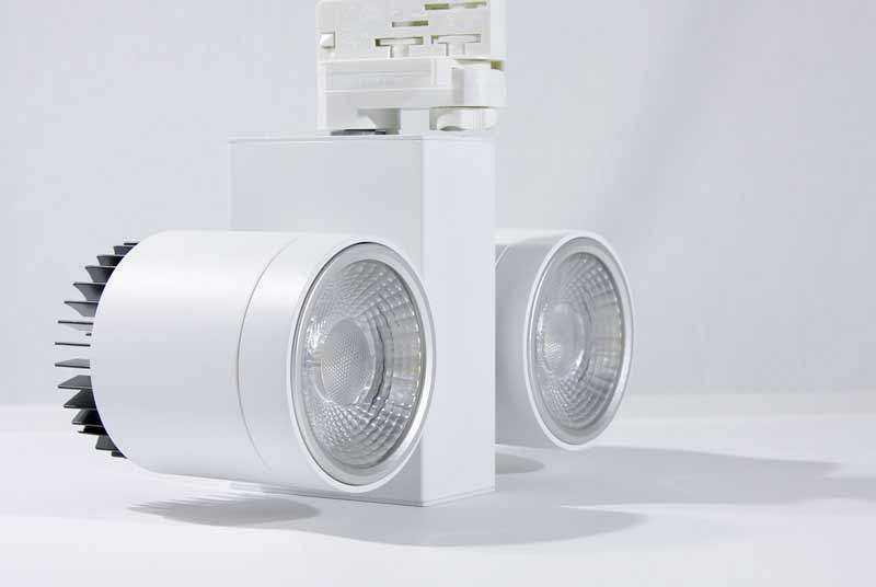 LED Stromschienenstrahler Serie TR - Zweiflammig