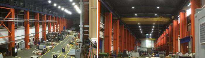 LED Hallenbeleuchtung von Wir sind heller in der Umsetzung