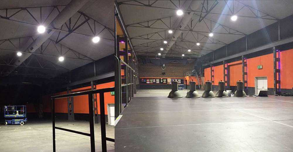 LED Hallenstrahler - Einsatz in Veranstaltungshalle