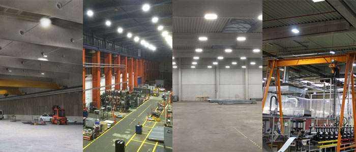LED Hallenstrahler im Einsatz