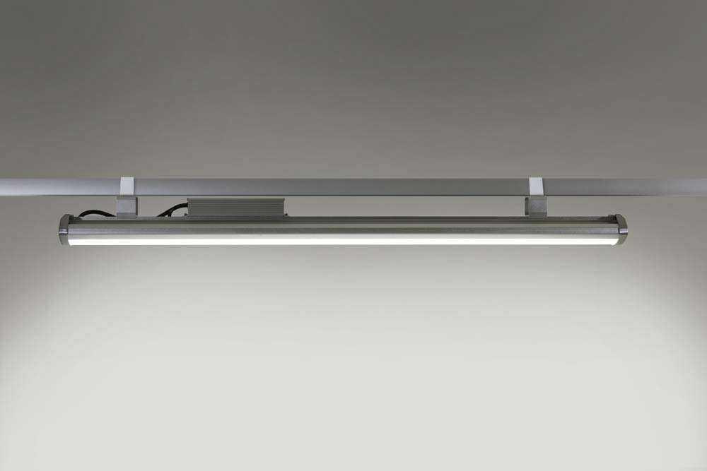 LED-Hallenstrahler Serie HPT - Montageschiene