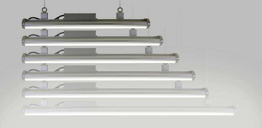 LED-Hallenstrahler Serie HPT - Wattagen