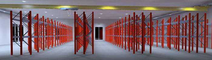 Konzept Lagerhallenbeleuchtung