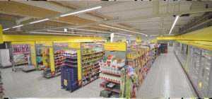 WSH LED Lichtbandsystem Linear Anwendung Supermarkt