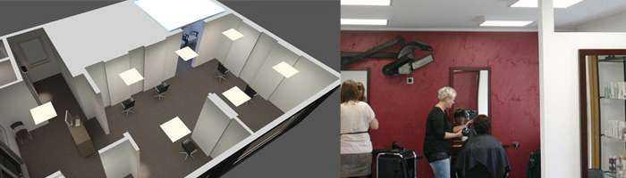 LED Konzept Friseursalon