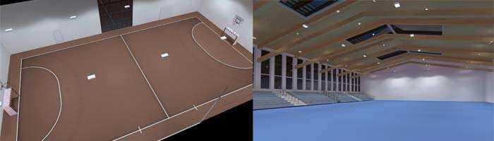 Konzept LED Sporthallenbeleuchtung
