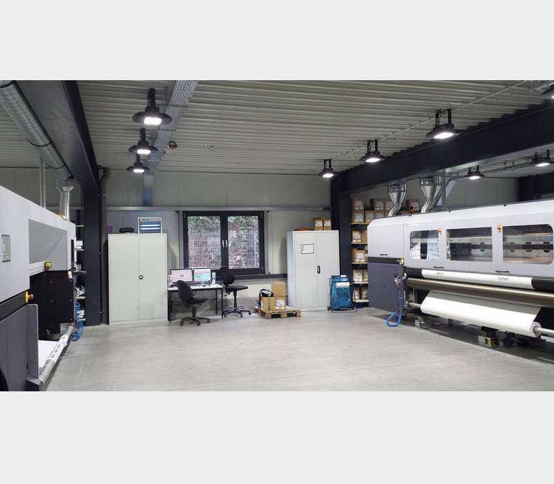 LED Hallenstrahler - Anwendung Druckerei