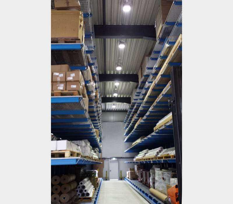 LED Hallenstrahler - Anwendung Hochregallager