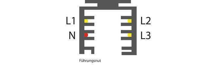 3-Phasen Schienensystem - Querschnitt