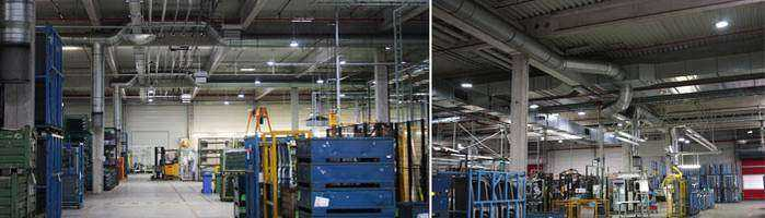 LED Hallenbeleuchtung / Industriehallenbeleuchtung von Wir sind heller