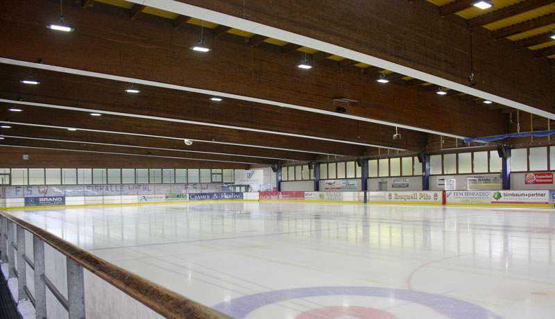LED Hallenbeleuchtung Eissporthalle
