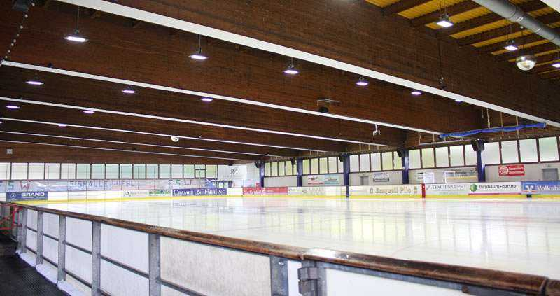LED Ausleuchtung Eissporthalle Wiehl