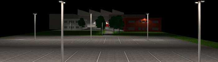Lichtkonzept Industrie Aussenbeleuchtung