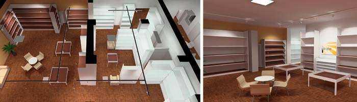LED Konzept Ladenlokal / Boutique