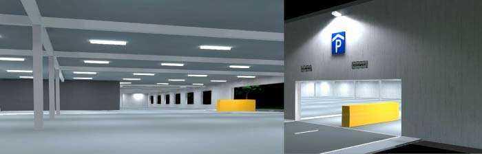 Beleuchtungskonzept LED Parkhausbeleuchtung