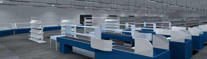 LED Lichtkonzept Marktbeleuchtung Lichtbandsystem