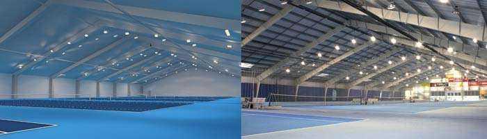 Konzept LED Tennisplatzbeleuchtung