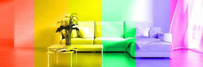 verschiedene Lichtfarben