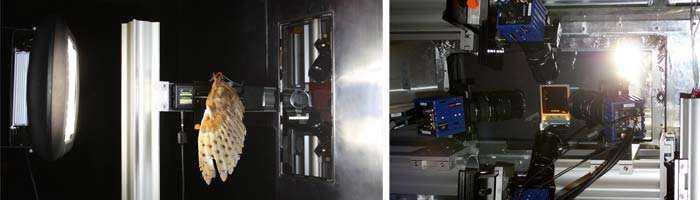 Versuchsaufbau: Test MH Strahler mit Highspeed-Kamera