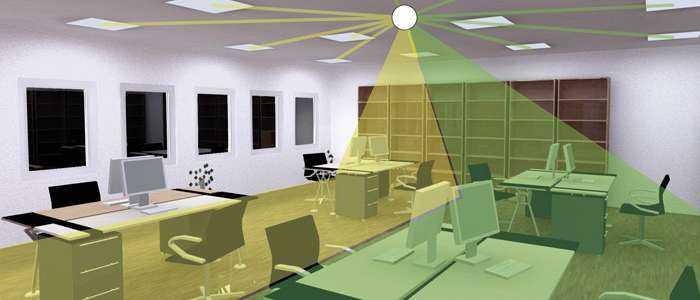 Lichtsteuerung für Büros