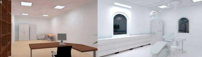 LED Beleuchtungskonzept Praxisräume Behandlungsräume