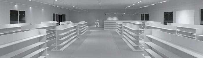 Konzept LED Shopbeleuchtung Märkte