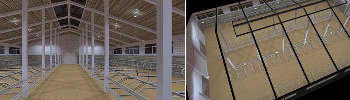Lichtkonzept LED Stallbeleuchtung