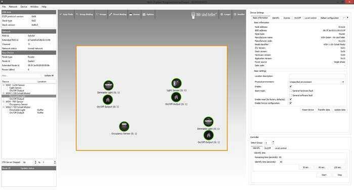 Wir sind heller ZigBee Lichtsteuerung Gebäudesteuerung - Software