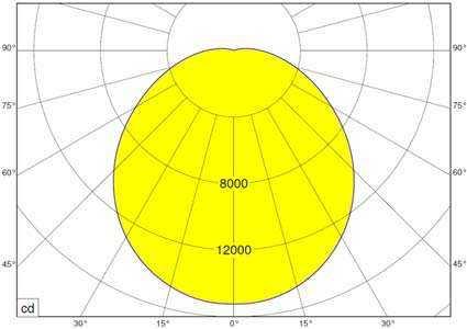 WSH Großflächenleuchte POWERDISK Lichtverteilung