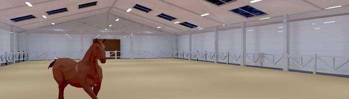 WSH LED Lichtkonzept Reitsporthallen