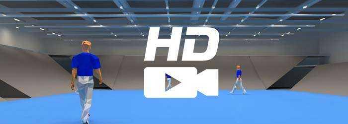 HD Filmaufnahmen in Sporthallen