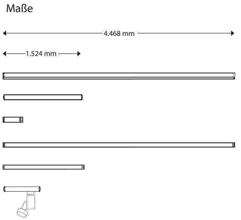 WSH Lichtbandsystem LS20 LS66 Maße
