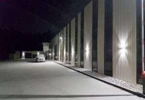 WSH LED Aussenbeleuchtung Firmengebäude