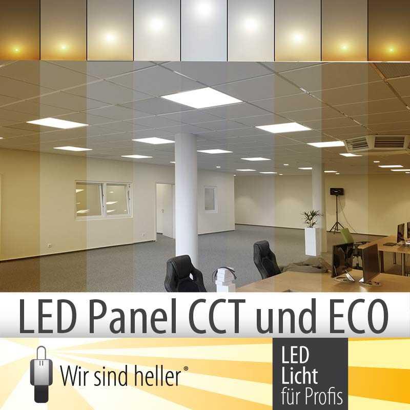 LED Panel Serien CCT und ECO - einstellbare Farbtemperatur