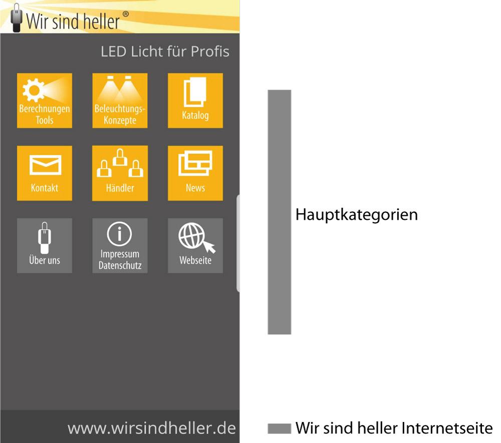 WSH APP Homescreen