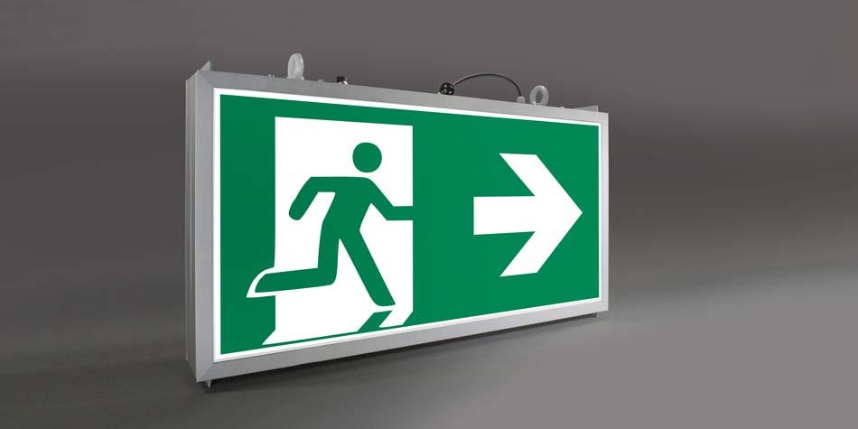 WSH Fluchtwegebeleuchtung Grossformat Rettungszeichenleuchte