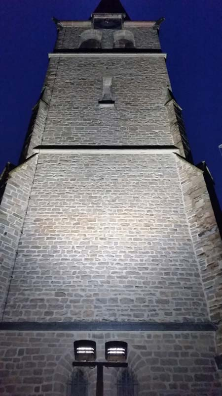 Außenbeleuchtung Kirchturm