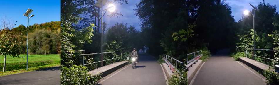 WSH Lichtkonzept Radweg Radschnellweg