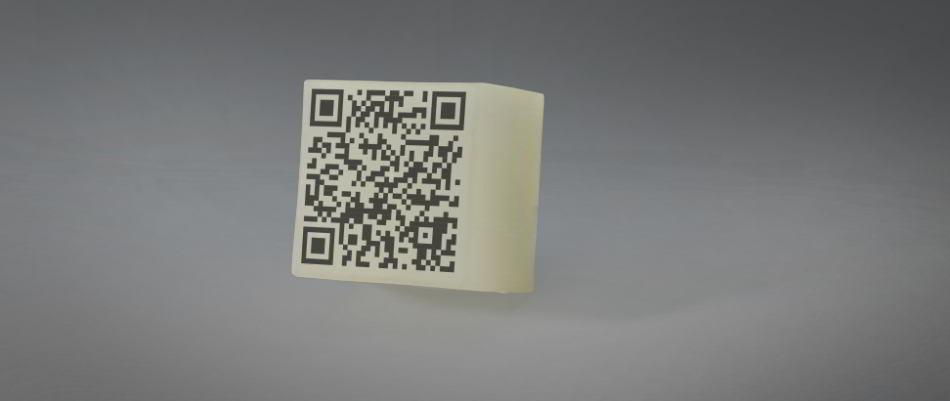 LED Leuchtstein mit QR-Code