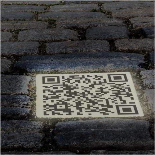 LED Leuchtstein mit QR Code