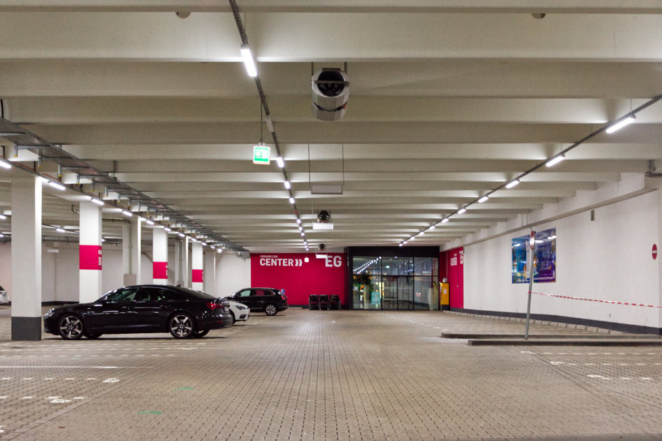 Parkhaus neue Beleuchtung