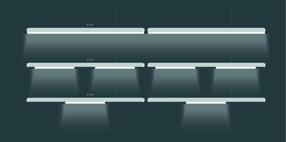 WSH Lichtbandsystem ls20-ls66 Varianten
