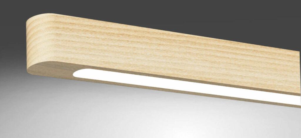 WSH WoodLine Pendelleuchten aus Massivholz