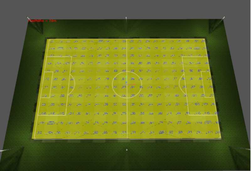 Ausleuchtung Fußbalplatz Lichtplanung