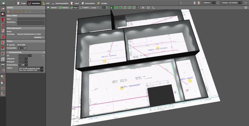 Lichtplanung und 3D Darstellung