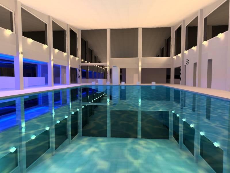 Lichtplanung Schwimmbad